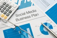 Close up of a social media business plan