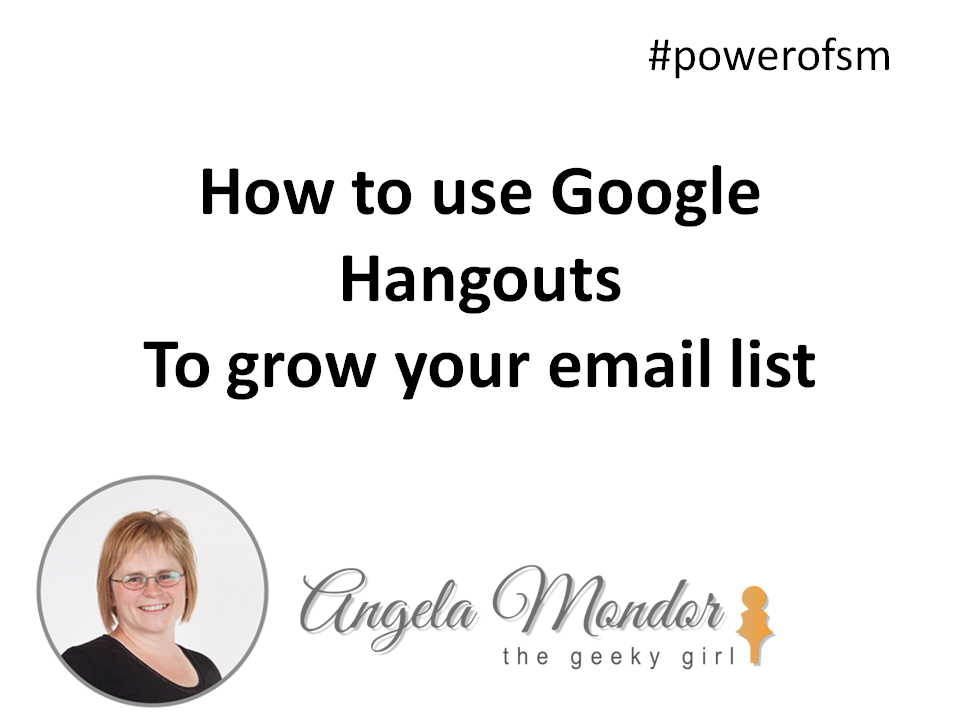 Hangouts and email lists